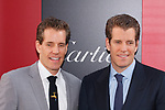 Cameron Winklevoss and  Tyler Winklevoss arrive at the World Premiere of Ocean's 8 at Alice Tully Hall in New York City, on June 5, 2018.