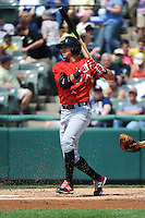 Erie SeaWolves infielder Hernan Perez (15) during game against the Trenton Thunder at ARM & HAMMER Park on May 29 2013 in Trenton, NJ.  Trenton defeated Erie 3-1.  Tomasso DeRosa/Four Seam Images