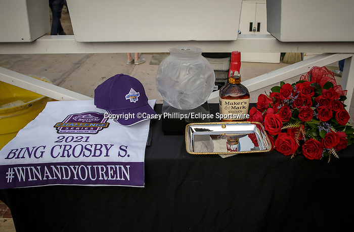 DEL MAR, CA  JULY 31: The Breeders Cup Win and You're In prize table  before the Bing Crosby Stakes on July 31, 2021 at Del Mar Thoroughbred Club in Del Mar, CA. (Photo by Casey Phillips/Eclipse lSportswire/CSM)