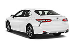 Car pictures of rear three quarter view of a 2018 Toyota Camry SE Auto 4 Door Sedan angular rear