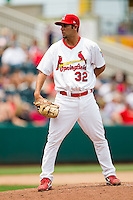Nick Greenwood (32) of the Springfield Cardinals on the mound during a game against the Tulsa Drillers at Hammons Field on June 27, 2011 in Springfield, Missouri. (David Welker / Four Seam Images)