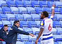 3rd October 2020; Madejski Stadium, Reading, Berkshire, England; English Football League Championship Football, Reading versus Watford; Veljko Paunovic, Manager of Reading gestures to his players