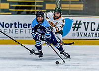 1 December 2018: University of Maine Black Bear Forward Tereza Vanišová, a Junior from Strakonice, Czech Republic, in third period action against the University of Vermont Catamounts at Gutterson Fieldhouse in Burlington, Vermont. The Lady Cats defeated the Lady Bears 3-2 in the second game of their 2-game Hockey East series. Mandatory Credit: Ed Wolfstein Photo *** RAW (NEF) Image File Available ***