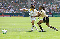 FC Gold Pride defender Kandace Wilson holds LA Sol's Aya Miyama battle. The LA Sol defeated FC Gold Pride of the Bay Area 1-0 at Home Depot Center stadium in Carson, California on Sunday April 19, 2009.  ..  .