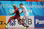 Nagoya Oceans vs Lokomotiv Tashkent during the 2014 AFC Futsal Club Championship Group Stage A match on August 25, 2014 at the Shuangliu Sports Centre in Chengdu, China. Photo by World Sport Group
