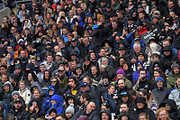 Fans in the grandstand during the Bledisloe Cup rugby union match between the New Zealand All Blacks and Australia Wallabies at Sky Stadium in Wellington, New Zealand on Sunday, 11 October 2020. Photo: Dave Lintott / lintottphoto.co.nz