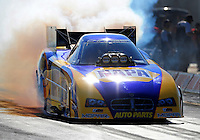 Sept. 24, 2011; Ennis, TX, USA: NHRA funny car driver Ron Capps during qualifying for the Fall Nationals at the Texas Motorplex. Mandatory Credit: Mark J. Rebilas-