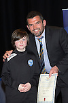 St Johnstone FC Youth Academy Presentation Night at Perth Concert Hall..21.04.14<br /> Callum Davidson presents to Cooper Smith<br /> Picture by Graeme Hart.<br /> Copyright Perthshire Picture Agency<br /> Tel: 01738 623350  Mobile: 07990 594431