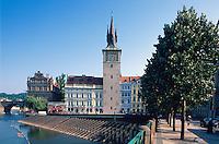 Tschechien, Prag, Altstaedter Wasserturm, Unesco-Weltkulturerbe.