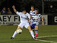 AA Gent dames - Club Brugge dames :<br /> Ingrid De Rycke (L) probeert een voorzet van Elke Van De Sompel (R) te onderscheppen<br /> foto Dirk / Nikonpro.be