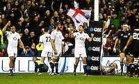 Photo: Richard Lane/Richard Lane Photography. England v New Zealand. QBE Autumn Internationals. 01/12/2012. England celebration.