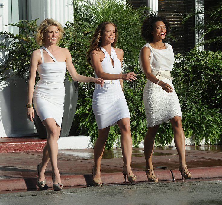 SMG_Rachael Taylor_Minka Kelly_Annie Ilonzeh_Charlies Angels Set_031611_139.JPG<br /> <br /> MIAMI BEACH, FL - MARCH 16: Actors Annie Ilonzeh, Rachael Taylor, Jessica Guadix, Ramon Rodriguez and Minka Kelly on the set of 'Charlies Angels' TV series. The production company fawned over their wanna be stars to blocking shots with umbrellas to the point where even the celebrities looked at them like they were ridiculous.  on March 16, 2011 in Miami Beach, Florida.  (Photo By Storms Media Group)<br />  <br /> People:   Rachael Taylor_Minka Kelly_Annie Ilonzeh<br /> <br /> Must call if interested<br /> Michael Storms<br /> Storms Media Group Inc.<br /> 305-632-3400 - Cell<br /> 305-513-5783 - Fax<br /> MikeStorm@aol.com
