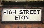 Eton High Street sign.