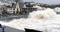 2014 02 05 Severe weather affecting Saundersfoot, Pembrokeshire, west Wales, UK
