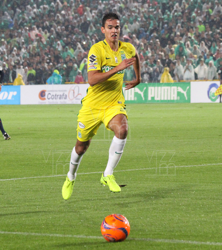 BOGOTA -COLOMBIA, 25-02-2017. Felipe Aguilar palyer of Atletico Nacional.Action game between  La Equidad and Atletico Nacional during match for the date 5 of the Aguila League I 2017 played at Ne stadium . Photo:VizzorImage / Felipe Caicedo  / Staff