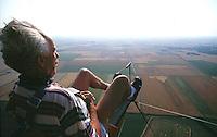 Segelflug, Oldtimer, beim Start, an der Winde