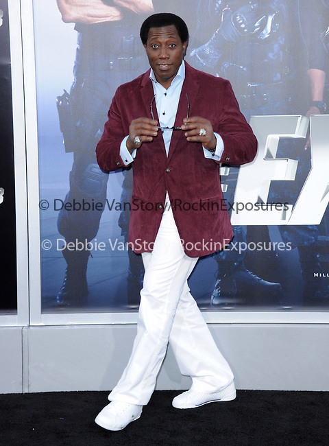 Wesley Snipes attends The Lionsgate L.A. Premiere of The Expendables 3 held at The TCL Chinese Theatre in Hollywood, California on August 11,2014                                                                               © 2014 Hollywood Press Agency