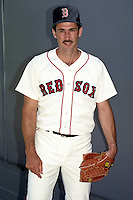 Boston Red Sox pitcher Mike Boddicker during spring training circa 1990 at Chain of Lakes Park in Winter Haven, Florida.  (MJA/Four Seam Images)