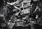Industrial crane accident falls on a school bus calming one life in the financial district of San Francisco California.