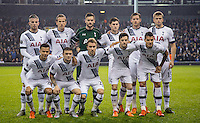 The Tottenham Hotspur team pose for a pre match photo during the UEFA Europa League Group J match between Tottenham Hotspur and R.S.C. Anderlecht at White Hart Lane, London, England on 5 November 2015. Photo by Andy Rowland.