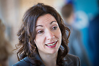 PQ Leadership candidate Martine Ouellet during the presentation of parti Quebecois candidates for the upcoming byelection Tuesday May 5, 2015.<br /> <br /> PHOTO :  Francis Vachon - Agence Quebec Presse