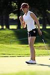 Sandra Gal celebrated on the 1st hole at Wegmans LPGA in Rochester, NY.