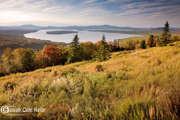 Rangeley Lakes viewed from the Height of Land on the Appalachian National Scenic Trail in Franklin County, ME