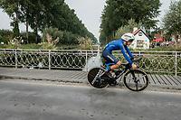 Matteo Sobrero (ITA/Astana)<br /> <br /> 88th UCI Road World Championships 2021 – ITT (WC)<br /> Men's Elite Time trial from Knokke-Heist to Brugge (43.3km)<br /> <br /> ©Kramon