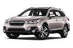 Stock pictures of low aggressive front three quarter view of 2019 Subaru Outback Premium 5 Door Wagon Low Aggressive