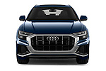Car photography straight front view of a 2019 Audi Q8 S Line 5 Door SUV