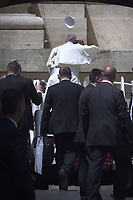 Pope Francis during of a weekly general audience at St Peter's square in Vatican, Wednesday.june19, 2019