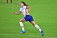 18th February 2021, Orlando, Florida, USA;  United States forward Alex Morgan (13) runs forward during a SheBelieves Cup game between Canada and the United States on February 18, 2021 at Exploria Stadium in Orlando, FL.