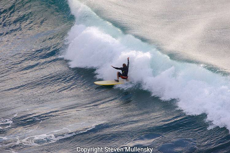 Surfing at Honoluoa Bay on Maui