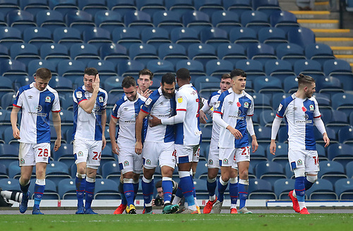 7th November 2020; Ewood Park, Blackburn, Lancashire, England; English Football League Championship Football, Blackburn Rovers versus Queens Park Rangers; Ben Brereton of Blackburn Rovers celebrates with his team mates after scoring to give his side a 1-0 lead after 50 minutes