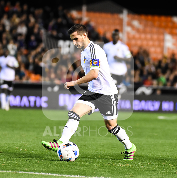 Valencia's    Pablo Piatti   during Spanish King's Cup match. February 10, 2016. (ALTERPHOTOS/Javier Comos)