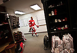 6 May 2010: Detroit Red Wings center Johan Franzen (93) walks the locker room after Game 4 of the NHL Western Conference Semifinals series with the San Jose Sharks at the Detroit Red Wings, at Joe Louis Arena, in Detroit, MI. Franzen scored 4 goals in the first period as the Red Wings won 7-1...***** Editorial Use Only *****