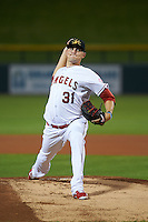 Mesa Solar Sox pitcher Ryan Etsell (31) delivers a pitch during an Arizona Fall League game against the Salt River Rafters on October 23, 2015 at Sloan Park in Mesa, Arizona.  Salt River defeated Mesa 5-1.  (Mike Janes/Four Seam Images)