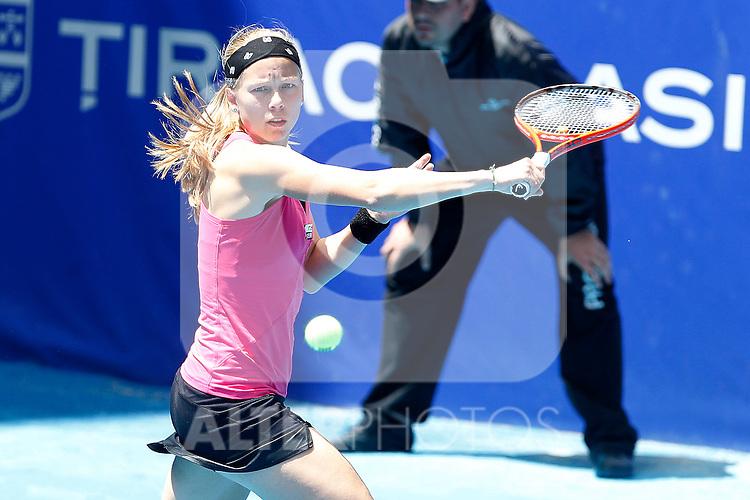 Johana Larsson during Madrid Open Tennis 2012 Match.(ALTERPHOTOS/ALFAQUI/Acero)