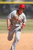 March 15, 2010:  Adam Dimino (24) of the Cortland Red Dragons in a game vs Wheaton College at Lake Myrtle Park in Auburndale, FL.  Photo By Mike Janes/Four Seam Images