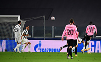 Football Soccer: UEFA Champions League -Group Stage-  Group G - Juventus vs FC Barcellona, Allianz Stadium. Turin, Italy, October 28, 2020.<br /> Barcellona's Osumane Dembele' (second right) scores during the Uefa Champions League football soccer match between Juventus and Barcellona at Allianz Stadium in Turin, October 28, 2020.<br /> UPDATE IMAGES PRESS/Isabella Bonotto