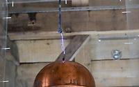 CROATIA, Smiljan, Nikola Tesla Museum, birth place of inventor and physican Nikola Tesla born 10.7.1856, died 7.1.1943, experiment wireless transmission / KROATIEN, Smiljan, Nikola Tesla Museum, der Erfinder und Physiker Nikola Tesla wurde hier 1856  geboren, nach Nikola Tesla ist seit 1960 die physikalische Einheit der magnetischen Flussdichte benannt, nach Nikola Tesla benannte sich Tesla Inc. von Elon Musk, dem kalifornischen Hersteller von Elektroautos mit Wechselstrommotor, Experiment mit kabelloser Stromübertragung