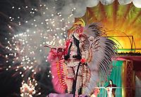 PARINTINS, AM, 28.06.2019: PARINTINS-AMAZONAS. Brenda Garcia, Rainha do Folclore. Apresentação do Boi Garantido na primeira noite do 54o festival Folclorico de Parintins 2019, nesta sexta (28), no bumdódromo. Parintins fica a 370 km de Manaus.<br /> Foto: Sandro Pereira/Codigo19