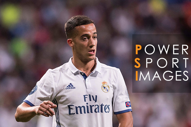 Lucas Vazquez of Real Madrid looks on during their 2016-17 UEFA Champions League match between Real Madrid vs Sporting Portugal at the Santiago Bernabeu Stadium on 14 September 2016 in Madrid, Spain. Photo by Diego Gonzalez Souto / Power Sport Images