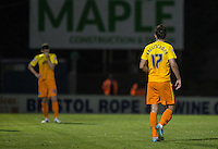 Max Kretzschmar of Wycombe Wanderers during the Johnstone's Paint Trophy match between Bristol Rovers and Wycombe Wanderers at the Memorial Stadium, Bristol, England on 6 October 2015. Photo by Andy Rowland.
