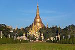 Myanmar, (Burma), Yangon Region, Rangoon: Shwedagon pagoda | Myanmar (Birma), Yangon-Division, Rangun: die Shwedagon Pagode