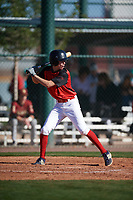 Charles Summers (7) of Providence Academy in Bentonville, Arkansas during the Baseball Factory All-America Pre-Season Tournament, powered by Under Armour, on January 13, 2018 at Sloan Park Complex in Mesa, Arizona.  (Mike Janes/Four Seam Images)