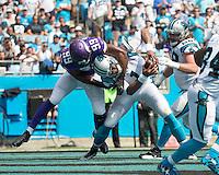 Charlotte, NC - September 25, 2016: The Carolina Panthers play the Minnesota Vikings at Bank of America Stadium.  Final score Minnesota 22, Carolina 10.