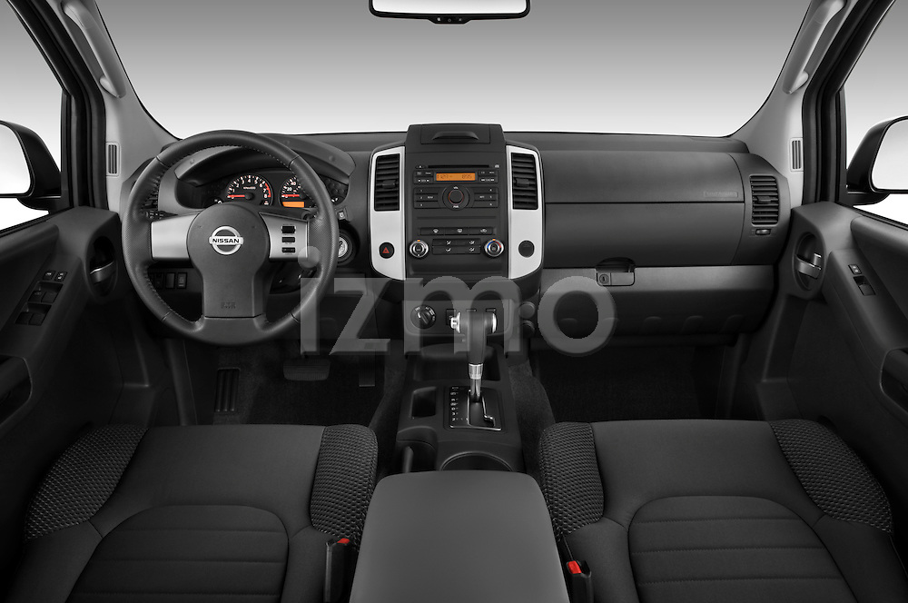 Straight dashboard view of a 2009 Nissan Xterra Off Road.