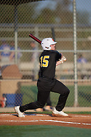 Joe Brown (15) during the WWBA World Championship at Lee County Player Development Complex on October 8, 2020 in Fort Myers, Florida.  Joe Brown, a resident of Petaluma, California who attends Petaluma High School, is committed to California.  (Mike Janes/Four Seam Images)
