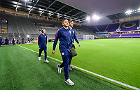 ORLANDO, FL - NOVEMBER 15: Jordan Morris #11 of the United States walks onto the field during a game between Canada and USMNT at Exploria Stadium on November 15, 2019 in Orlando, Florida.